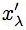 x prime lambda